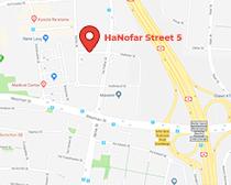 תמונת מפה של כתובת הסניף ברעננה